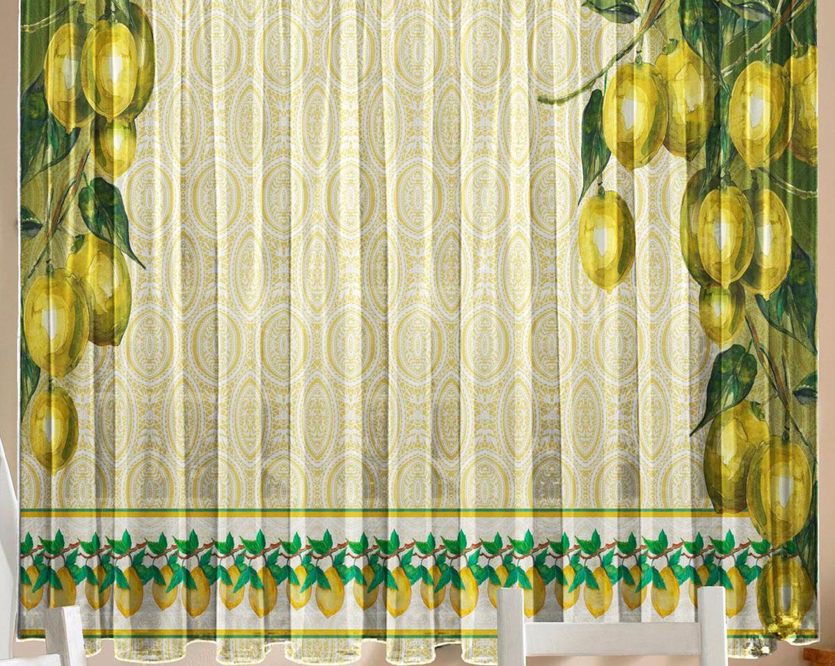 Комплект фототюлей для кухни Zlata Korunka Лимоны, на ленте, высота 160 см21297Фототюль - это новинка в мире фотоштор. Для производства используется шифоновая ткань высочайшего качества. Уход: Бережная стирка при 30 градусах, деликатный отжим, отбеливание запрещено. Комплектация и размер: 2 полотна (каждое – шир.145 х выс.160) соединенных поверху, одной шторной лентой. Оттенок изделия может отличаться от представленного на сайте в силу особенностей цветопередачи фототехники и Вашего монитора.