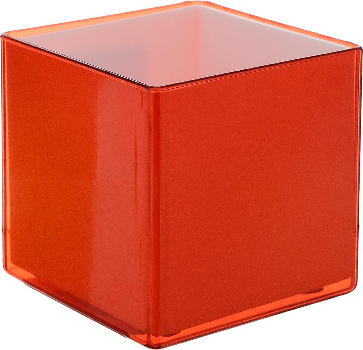 Кашпо JetPlast Мини куб, на магните, цвет: красный, 6 x 6 x 6 см4612754050505Кашпо JetPlast Мини куб предназначено для украшения любого интерьера. Благодаря магнитной ленте, входящей в комплект, вы можете разместить его не только на подоконнике, столе или иной поверхности, а также на холодильнике и любой другой металлической поверхности, дополняя привычные вещи новыми дизайнерскими решениями. Кашпо можно использовать не только под цветы, но и как подставку для ручек, карандашей и прочих канцелярских мелочей. Размеры кашпо: 6 х 6 х 6 см.