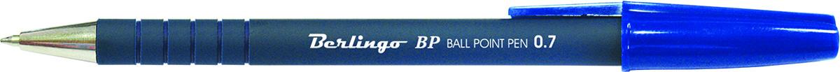 Berlingo Ручка шариковая BP синяяCBp_70262Стильная и удобная шариковая ручка Berlingo BP с высококачественными чернилами обеспечивает ровное и мягкое письмо. Корпус ручки состоит из непрозрачного пластика. Насечки грип-зоны не позволяют ручке скользить в пальцах. Детали корпуса тонированы в цвет чернил.