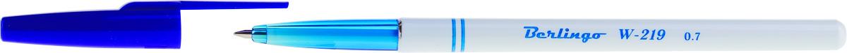 Berlingo Ручка шариковая W-219 цвет чернил синийCBp_70242Стильная и удобная шариковая ручка Berlingo W-219 оснащена высококачественными чернилами, которые обеспечивают ровное и мягкое письмо. Корпус - пластик с прозрачным кончиком для контроля за уровнем чернил. Детали корпуса тонированы в цвет чернил. Диаметр пишущего узла - 0,7 мм. Цвет чернил - синий.