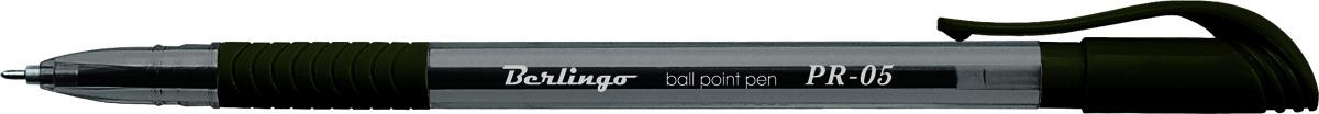 Berlingo Ручка шариковая PR-05 чернаяCBp_50361Шариковая ручка Berlingo PR-05 синяя с прозрачным корпусом и пластиковым клипом. Мягкий резиновый грип препятствует скольжению пальцев и обеспечивает комфортное письмо. Диаметр пишущего узла - 0,5 мм. Чернила на масляной основе.