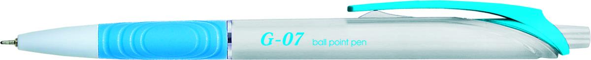Berlingo Ручка шариковая G-07 цвет чернил синийCBm_70392Автоматическая шариковая ручка Berlingo G-07 с пластиковым клипом и мягким резиновым грипом предназначена для комфортного письма. Диаметр пишущего узла - 0,7 мм. Чернила на масляной основе.