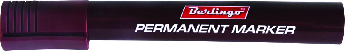 Berlingo Маркер перманентный цвет коричневый BMc_15122BMc_15122Маркер Berlingo подходит для письма на любых поверхностях. Чернила на спиртовой основе. Плотный колпачок с клипом надежно предотвращает высыхание. Цвет колпачка соответствует цвету чернил. Маркер имеет закругленный пишущий узел и пулевидную форму наконечника. Толщина линии - 3 мм.