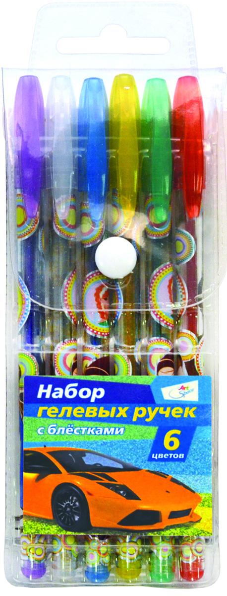 ArtSpace Набор гелевых ручек Машинки 6 цветовGGP6_3192Набор гелевых ручек ArtSpace Машинки отлично подойдет для оформления конспектов и других текстов, а также альбомов, дневников и открыток. Ручка имеет пишущий узел толщиной 1 миллиметр, который оставляет на бумаге след в 0,8 миллиметра. Корпус изделий выполнен из прозрачного пластика, украшенного цветными изображениями, колпачок соответствует цвету чернил. В набор входят 6 ручек различных цветов.