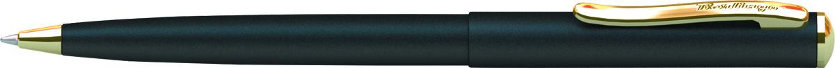Berlingo Ручка шариковая Velvet Prestige цвет корпуса черный золотистыйCPs_72735Корпус хром/золото