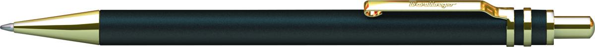 Berlingo Ручка шариковая Silver Premium цвет корпуса черный золотистыйCPs_72901Корпус черный/золото