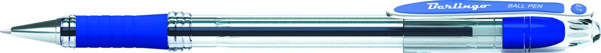 Berlingo Ручка шариковая I-15 цвет синийCBp_70012Шариковая ручка I-15 c колпачком в цвет чернил и пластиковым клипом. Мягкий резиновый грип в зоне захвата препятствует скольжению пальцев при письме. Прозрачный корпус позволяет контролировать расход чернил. Качественные чернила на масляной основе обеспечивают мягкое и комфортное письмо. Диаметр пишущего узла - 0,7 мм. Упаковка в картонную коробку по 12 шт.