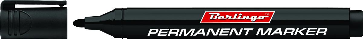 Berlingo Маркер перманентный цвет черный BMc_15201