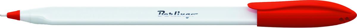 Berlingo Ручка шариковая Triangle Snow цвет красный