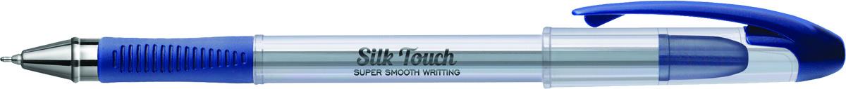 Berlingo Ручка шариковая Silk Touch синяяCBp_60872Ручка шариковая Berlingo Silk Touch с прозрачным корпусом, пластиковым клипом и мягким резиновый гриппом препятствует скольжению пальцев и обеспечивает комфортное письмо. Диаметр пишущего узла - 0,6 мм. Чернила пониженной вязкости обеспечивают мягкое письмо. Утолщенный стержень предоставляет рекордную длину письма.