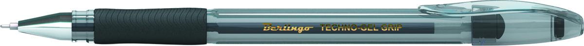 Berlingo Ручка гелевая Techno-Gel Grip черная