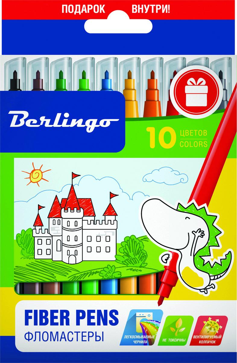 Berlingo Набор фломастеров Замки 10 цветов