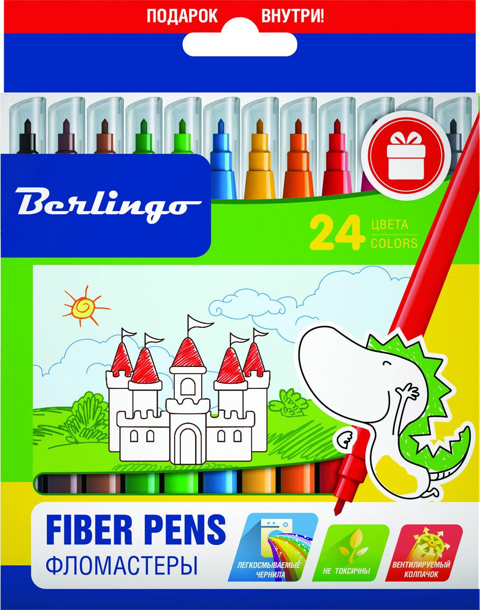 Berlingo Набор фломастеров Замки 24 цвета