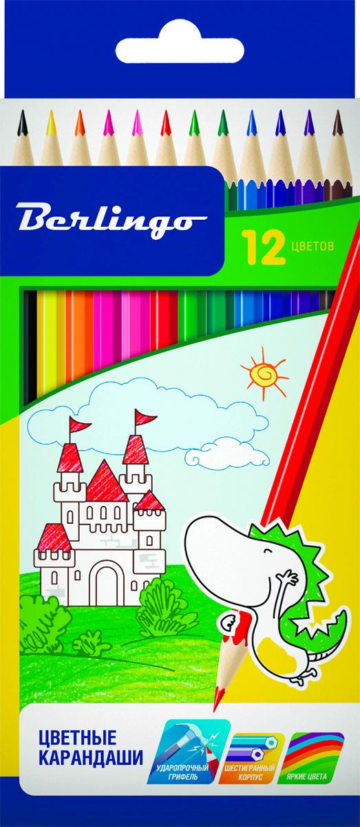 Berlingo Набор цветных карандашей Замки 12 цветов