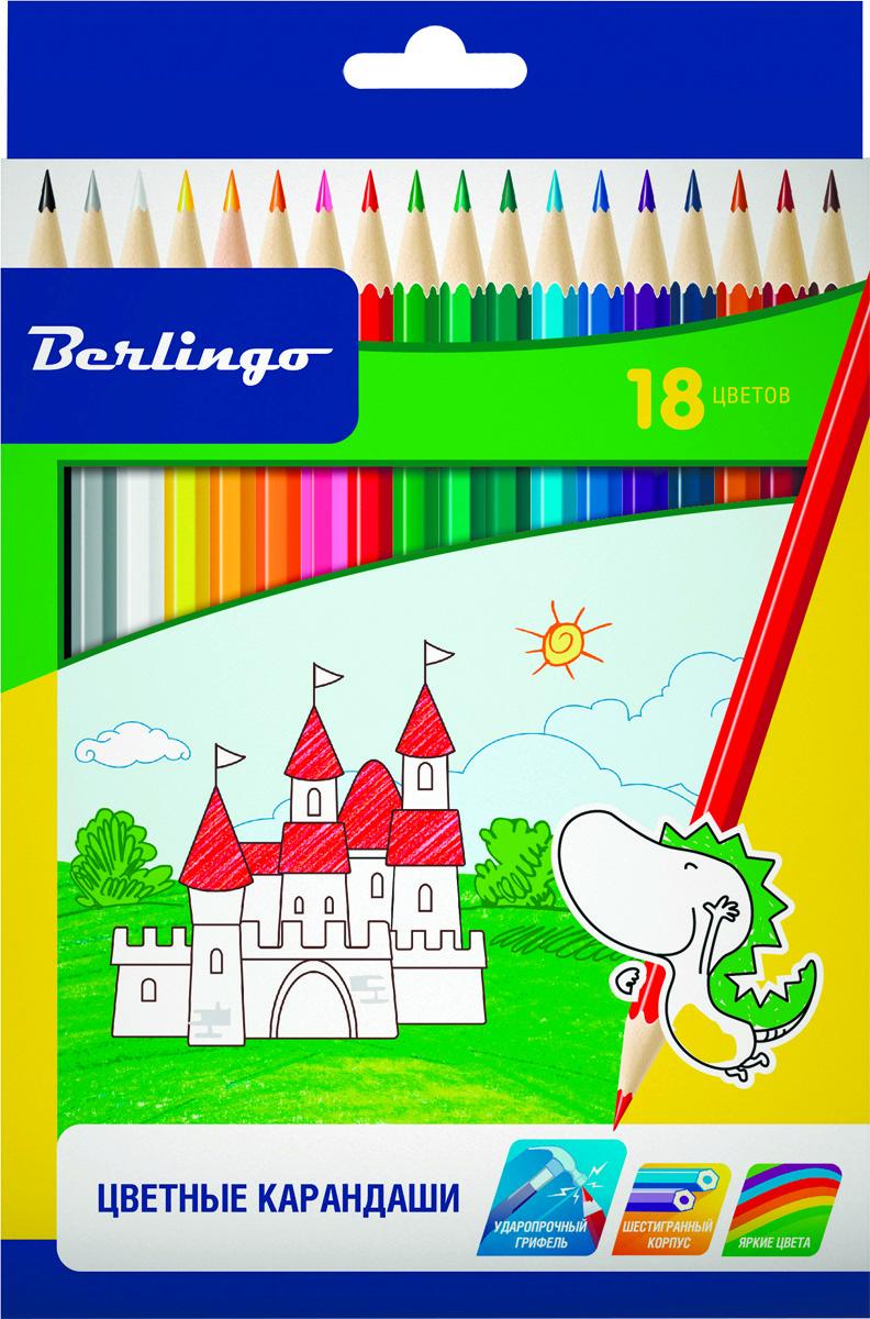 Berlingo Набор цветных карандашей Замки 18 штCP00118Набор цветных карандашей Berlingo Замки с заточенным грифелем. Карандаши имеют яркие насыщенные цвета. Штрихи мягко ложатся на бумагу. Карандаши легко затачиваются.