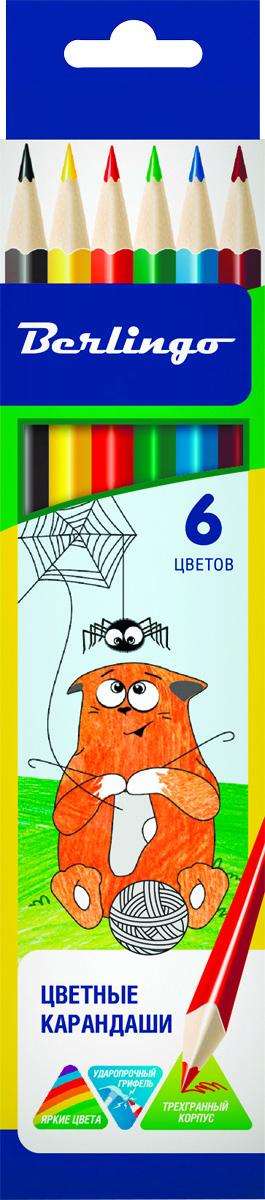 Berlingo Набор цветных карандашей Жил-был кот 6 цветов