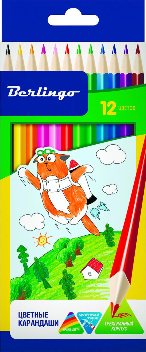 Berlingo Набор цветных карандашей Жил-был кот 12 шт