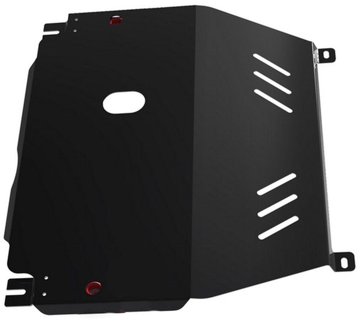 Защита картера и КПП Автоброня, для Chevrolet Aveo. 1.01015.11.01015.1Технологически совершенный продукт за невысокую стоимость. Защита разработана с учетом особенностей днища автомобиля, что позволяет сохранить дорожный просвет с минимальным изменением. Защита устанавливается в штатные места кузова автомобиля. Глубокий штамп обеспечивает до двух раз больше жесткости в сравнении с обычной защитой той же толщины. Проштампованные ребра жесткости препятствуют деформации защиты при ударах. Тепловой зазор и вентиляционные отверстия обеспечивают сохранение температурного режима двигателя в норме. Скрытый крепеж предотвращает срыв крепежных элементов при наезде на препятствие. Шумопоглощающие резиновые элементы обеспечивают комфортную езду без вибраций и скрежета металла, а съемные лючки для слива масла и замены фильтра - экономию средств и время. Конструкция изделия не влияет на пассивную безопасность автомобиля (при ударе защита не воздействует на деформационные зоны кузова). Со штатным крепежом. В комплекте инструкция по...