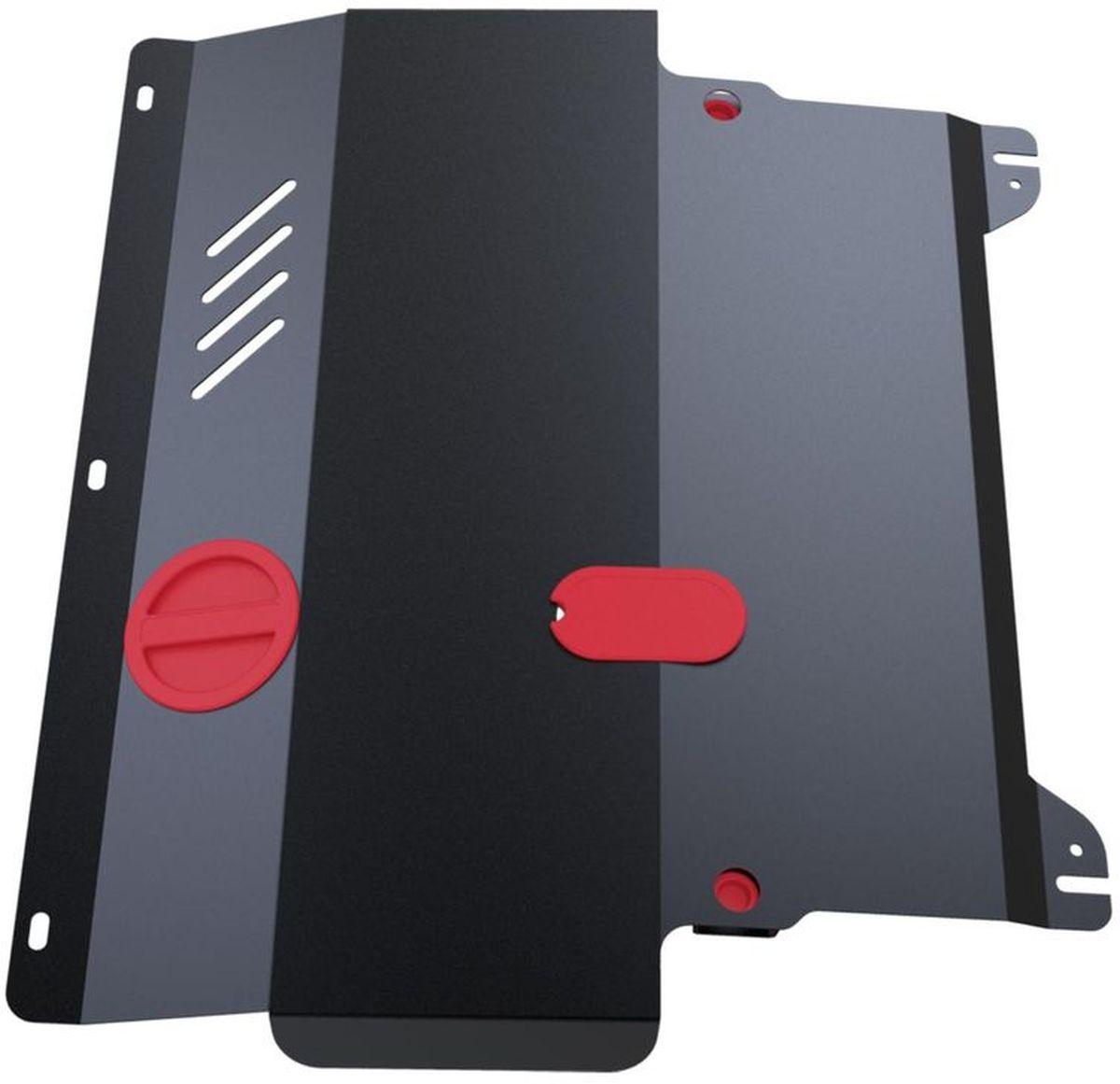 Защита картера Автоброня, для Toyota Hilux V - 2,5D-4D; 3,0TD (2007)1.05745.1Технологически совершенный продукт за невысокую стоимость. Защита разработана с учетом особенностей днища автомобиля, что позволяет сохранить дорожный просвет с минимальным изменением. Защита устанавливается в штатные места кузова автомобиля. Глубокий штамп обеспечивает до двух раз больше жесткости в сравнении с обычной защитой той же толщины. Проштампованные ребра жесткости препятствуют деформации защиты при ударах. Тепловой зазор и вентиляционные отверстия обеспечивают сохранение температурного режима двигателя в норме. Скрытый крепеж предотвращает срыв крепежных элементов при наезде на препятствие. Шумопоглощающие резиновые элементы обеспечивают комфортную езду без вибраций и скрежета металла, а съемные лючки для слива масла и замены фильтра - экономию средств и время. Конструкция изделия не влияет на пассивную безопасность автомобиля (при ударе защита не воздействует на деформационные зоны кузова). Со штатным крепежом. В комплекте инструкция по установке....