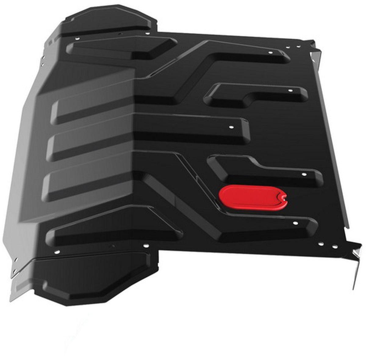 Защита картера и КПП Автоброня, для Lada 2110/2170 Priora. 1.06018.11.06018.1Технологически совершенный продукт за невысокую стоимость. Защита разработана с учетом особенностей днища автомобиля, что позволяет сохранить дорожный просвет с минимальным изменением. Защита устанавливается в штатные места кузова автомобиля. Глубокий штамп обеспечивает до двух раз больше жесткости в сравнении с обычной защитой той же толщины. Проштампованные ребра жесткости препятствуют деформации защиты при ударах. Тепловой зазор и вентиляционные отверстия обеспечивают сохранение температурного режима двигателя в норме. Скрытый крепеж предотвращает срыв крепежных элементов при наезде на препятствие. Шумопоглощающие резиновые элементы обеспечивают комфортную езду без вибраций и скрежета металла, а съемные лючки для слива масла и замены фильтра - экономию средств и время. Конструкция изделия не влияет на пассивную безопасность автомобиля (при ударе защита не воздействует на деформационные зоны кузова). Со штатным крепежом. В комплекте инструкция по...