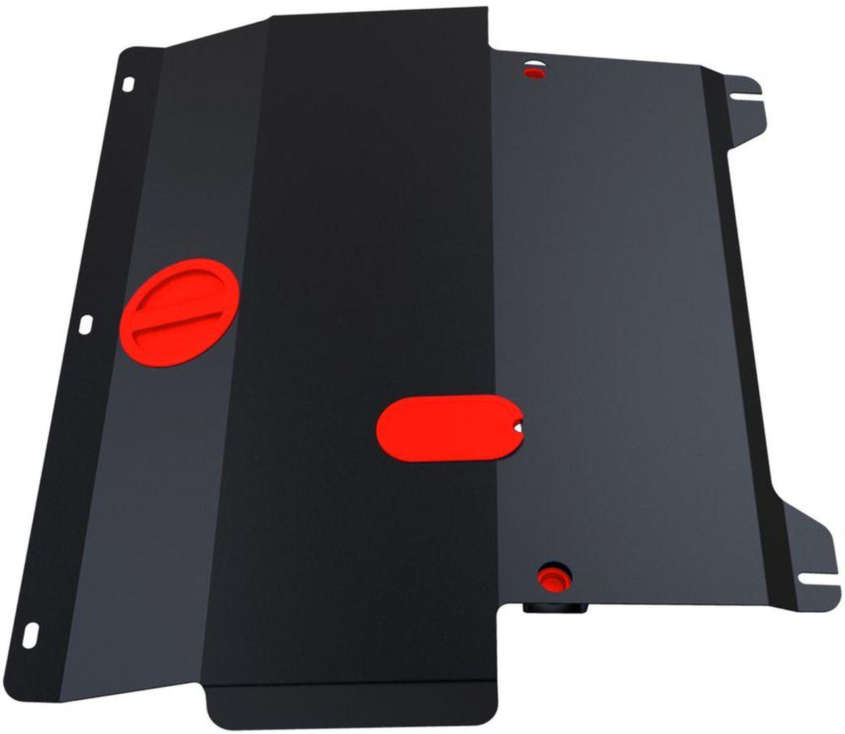Защита картера и КПП Автоброня, для Ford Fiesta. 111.01805.2111.01805.2Технологически совершенный продукт за невысокую стоимость. Защита разработана с учетом особенностей днища автомобиля, что позволяет сохранить дорожный просвет с минимальным изменением. Защита устанавливается в штатные места кузова автомобиля. Глубокий штамп обеспечивает до двух раз больше жесткости в сравнении с обычной защитой той же толщины. Проштампованные ребра жесткости препятствуют деформации защиты при ударах. Тепловой зазор и вентиляционные отверстия обеспечивают сохранение температурного режима двигателя в норме. Скрытый крепеж предотвращает срыв крепежных элементов при наезде на препятствие. Шумопоглощающие резиновые элементы обеспечивают комфортную езду без вибраций и скрежета металла, а съемные лючки для слива масла и замены фильтра - экономию средств и время. Конструкция изделия не влияет на пассивную безопасность автомобиля (при ударе защита не воздействует на деформационные зоны кузова). Со штатным крепежом. В комплекте инструкция по...