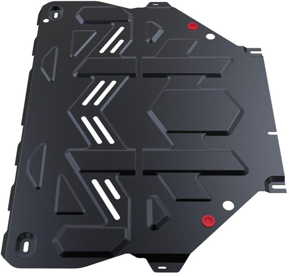 Защита картера и КПП Автоброня, для Ford Kuga. 111.01838.1111.01838.1Технологически совершенный продукт за невысокую стоимость. Защита разработана с учетом особенностей днища автомобиля, что позволяет сохранить дорожный просвет с минимальным изменением. Защита устанавливается в штатные места кузова автомобиля. Глубокий штамп обеспечивает до двух раз больше жесткости в сравнении с обычной защитой той же толщины. Проштампованные ребра жесткости препятствуют деформации защиты при ударах. Тепловой зазор и вентиляционные отверстия обеспечивают сохранение температурного режима двигателя в норме. Скрытый крепеж предотвращает срыв крепежных элементов при наезде на препятствие. Шумопоглощающие резиновые элементы обеспечивают комфортную езду без вибраций и скрежета металла, а съемные лючки для слива масла и замены фильтра - экономию средств и время. Конструкция изделия не влияет на пассивную безопасность автомобиля (при ударе защита не воздействует на деформационные зоны кузова). Со штатным крепежом. В комплекте инструкция по...