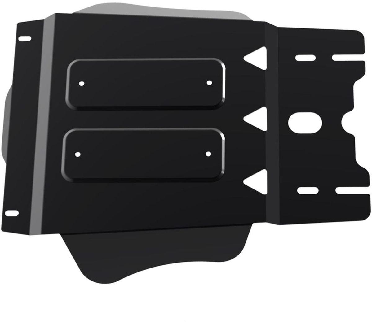 Защита КПП Автоброня, для Kia Mohave, V - все (2009-)111.02815.1Технологически совершенный продукт за невысокую стоимость. Защита разработана с учетом особенностей днища автомобиля, что позволяет сохранить дорожный просвет с минимальным изменением. Защита устанавливается в штатные места кузова автомобиля. Глубокий штамп обеспечивает до двух раз больше жесткости в сравнении с обычной защитой той же толщины. Проштампованные ребра жесткости препятствуют деформации защиты при ударах. Тепловой зазор и вентиляционные отверстия обеспечивают сохранение температурного режима двигателя в норме. Скрытый крепеж предотвращает срыв крепежных элементов при наезде на препятствие. Шумопоглощающие резиновые элементы обеспечивают комфортную езду без вибраций и скрежета металла, а съемные лючки для слива масла и замены фильтра - экономию средств и время. Конструкция изделия не влияет на пассивную безопасность автомобиля (при ударе защита не воздействует на деформационные зоны кузова). Со штатным крепежом. В комплекте инструкция по установке....