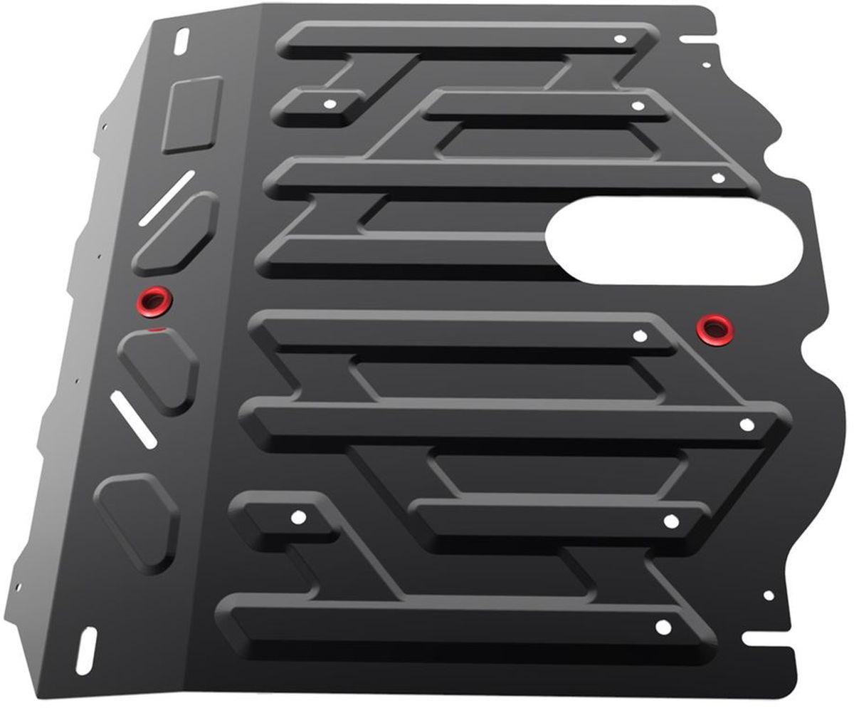 Защита картера и КПП Автоброня, для Kia Sorento. 111.02823.1111.02823.1Технологически совершенный продукт за невысокую стоимость. Защита разработана с учетом особенностей днища автомобиля, что позволяет сохранить дорожный просвет с минимальным изменением. Защита устанавливается в штатные места кузова автомобиля. Глубокий штамп обеспечивает до двух раз больше жесткости в сравнении с обычной защитой той же толщины. Проштампованные ребра жесткости препятствуют деформации защиты при ударах. Тепловой зазор и вентиляционные отверстия обеспечивают сохранение температурного режима двигателя в норме. Скрытый крепеж предотвращает срыв крепежных элементов при наезде на препятствие. Шумопоглощающие резиновые элементы обеспечивают комфортную езду без вибраций и скрежета металла, а съемные лючки для слива масла и замены фильтра - экономию средств и время. Конструкция изделия не влияет на пассивную безопасность автомобиля (при ударе защита не воздействует на деформационные зоны кузова). Со штатным крепежом. В комплекте инструкция по...