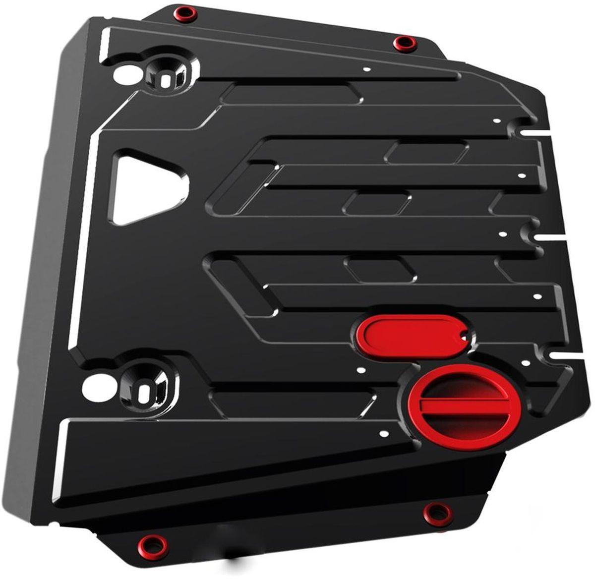 Защита картера и КПП Автоброня, для Kia Ceed/SW/Pro, V - 1,4(100hp); 1,6(129hp); 1,6GDI(135hp) (2015-)111.02836.1Технологически совершенный продукт за невысокую стоимость. Защита разработана с учетом особенностей днища автомобиля, что позволяет сохранить дорожный просвет с минимальным изменением. Защита устанавливается в штатные места кузова автомобиля. Глубокий штамп обеспечивает до двух раз больше жесткости в сравнении с обычной защитой той же толщины. Проштампованные ребра жесткости препятствуют деформации защиты при ударах. Тепловой зазор и вентиляционные отверстия обеспечивают сохранение температурного режима двигателя в норме. Скрытый крепеж предотвращает срыв крепежных элементов при наезде на препятствие. Шумопоглощающие резиновые элементы обеспечивают комфортную езду без вибраций и скрежета металла, а съемные лючки для слива масла и замены фильтра - экономию средств и время. Конструкция изделия не влияет на пассивную безопасность автомобиля (при ударе защита не воздействует на деформационные зоны кузова). Со штатным крепежом. В комплекте инструкция по установке....