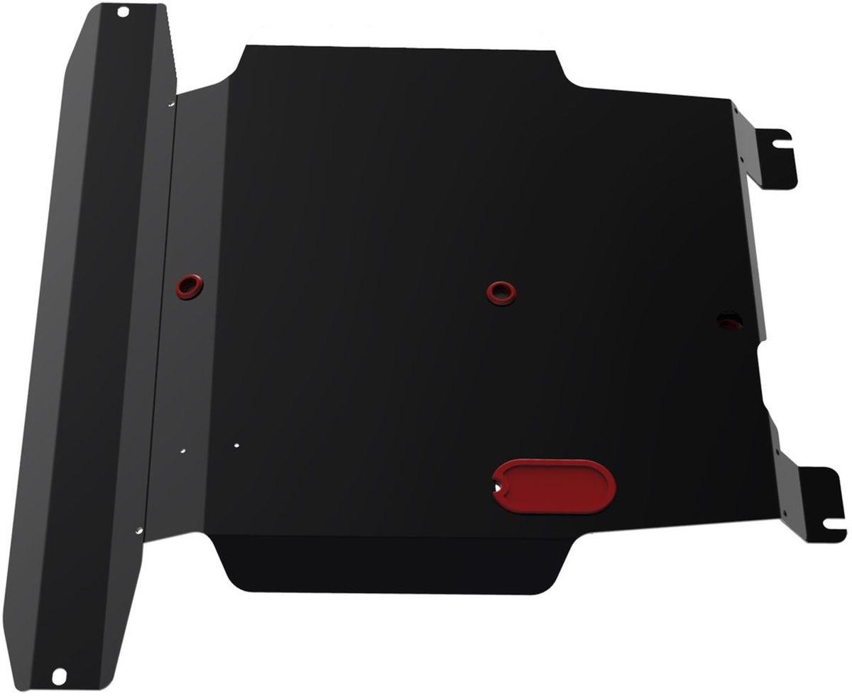 Защита картера и КПП Автоброня, для Nissan Almera Classic/Almera N16/Sunny B15/Bluebird Sylphy111.04101.1Технологически совершенный продукт за невысокую стоимость. Защита разработана с учетом особенностей днища автомобиля, что позволяет сохранить дорожный просвет с минимальным изменением. Защита устанавливается в штатные места кузова автомобиля. Глубокий штамп обеспечивает до двух раз больше жесткости в сравнении с обычной защитой той же толщины. Проштампованные ребра жесткости препятствуют деформации защиты при ударах. Тепловой зазор и вентиляционные отверстия обеспечивают сохранение температурного режима двигателя в норме. Скрытый крепеж предотвращает срыв крепежных элементов при наезде на препятствие. Шумопоглощающие резиновые элементы обеспечивают комфортную езду без вибраций и скрежета металла, а съемные лючки для слива масла и замены фильтра - экономию средств и время. Конструкция изделия не влияет на пассивную безопасность автомобиля (при ударе защита не воздействует на деформационные зоны кузова). Со штатным крепежом. В комплекте...