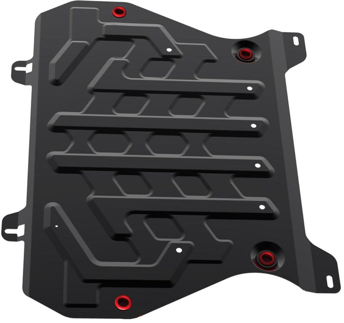 Защита картера и КПП Автоброня, для Nissan Juke. 111.04141.1111.04141.1Технологически совершенный продукт за невысокую стоимость. Защита разработана с учетом особенностей днища автомобиля, что позволяет сохранить дорожный просвет с минимальным изменением. Защита устанавливается в штатные места кузова автомобиля. Глубокий штамп обеспечивает до двух раз больше жесткости в сравнении с обычной защитой той же толщины. Проштампованные ребра жесткости препятствуют деформации защиты при ударах. Тепловой зазор и вентиляционные отверстия обеспечивают сохранение температурного режима двигателя в норме. Скрытый крепеж предотвращает срыв крепежных элементов при наезде на препятствие. Шумопоглощающие резиновые элементы обеспечивают комфортную езду без вибраций и скрежета металла, а съемные лючки для слива масла и замены фильтра - экономию средств и время. Конструкция изделия не влияет на пассивную безопасность автомобиля (при ударе защита не воздействует на деформационные зоны кузова). Со штатным крепежом. В комплекте инструкция по...