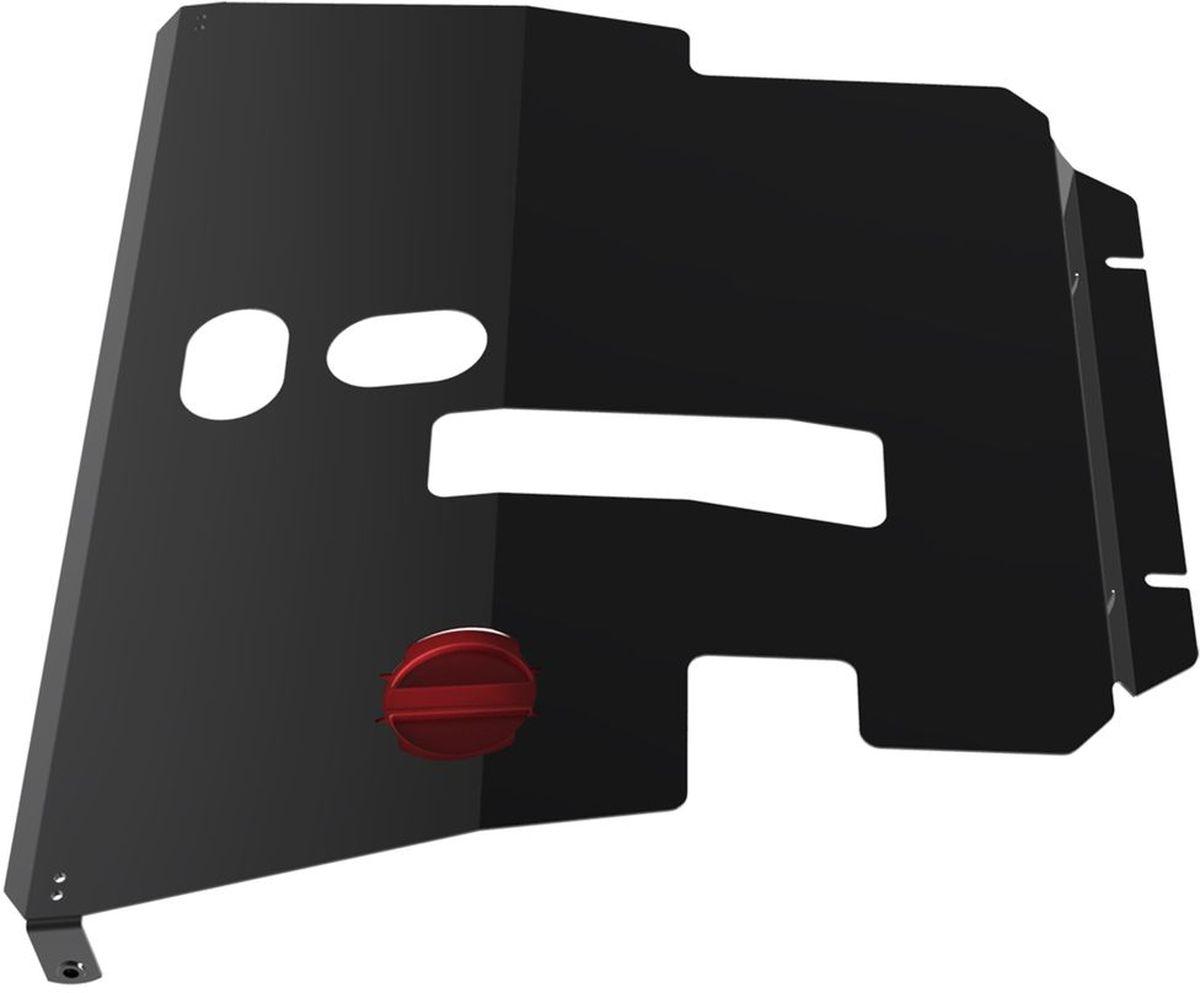 Защита картера и КПП Автоброня, для Toyota Avensis. 111.05701.1111.05701.1Технологически совершенный продукт за невысокую стоимость. Защита разработана с учетом особенностей днища автомобиля, что позволяет сохранить дорожный просвет с минимальным изменением. Защита устанавливается в штатные места кузова автомобиля. Глубокий штамп обеспечивает до двух раз больше жесткости в сравнении с обычной защитой той же толщины. Проштампованные ребра жесткости препятствуют деформации защиты при ударах. Тепловой зазор и вентиляционные отверстия обеспечивают сохранение температурного режима двигателя в норме. Скрытый крепеж предотвращает срыв крепежных элементов при наезде на препятствие. Шумопоглощающие резиновые элементы обеспечивают комфортную езду без вибраций и скрежета металла, а съемные лючки для слива масла и замены фильтра - экономию средств и время. Конструкция изделия не влияет на пассивную безопасность автомобиля (при ударе защита не воздействует на деформационные зоны кузова). Со штатным крепежом. В комплекте инструкция по...