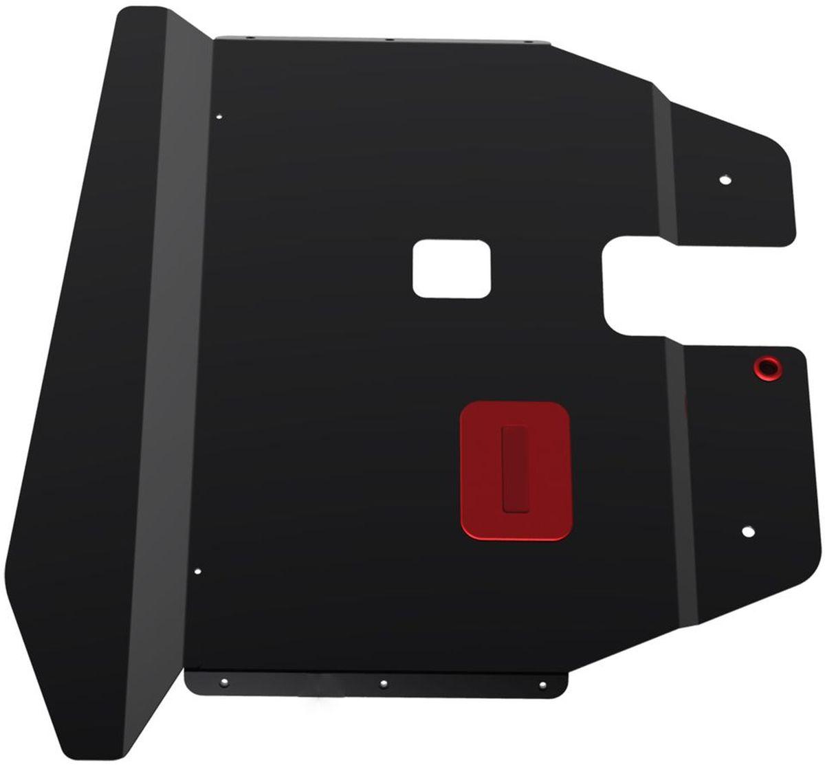 Защита картера и КПП Автоброня, для Volkswagen Sharan. 111.05822.1111.05822.1Технологически совершенный продукт за невысокую стоимость. Защита разработана с учетом особенностей днища автомобиля, что позволяет сохранить дорожный просвет с минимальным изменением. Защита устанавливается в штатные места кузова автомобиля. Глубокий штамп обеспечивает до двух раз больше жесткости в сравнении с обычной защитой той же толщины. Проштампованные ребра жесткости препятствуют деформации защиты при ударах. Тепловой зазор и вентиляционные отверстия обеспечивают сохранение температурного режима двигателя в норме. Скрытый крепеж предотвращает срыв крепежных элементов при наезде на препятствие. Шумопоглощающие резиновые элементы обеспечивают комфортную езду без вибраций и скрежета металла, а съемные лючки для слива масла и замены фильтра - экономию средств и время. Конструкция изделия не влияет на пассивную безопасность автомобиля (при ударе защита не воздействует на деформационные зоны кузова). Со штатным крепежом. В комплекте инструкция по...