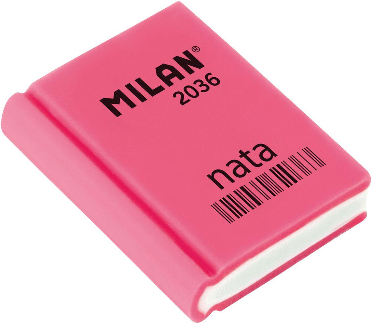 Milan Ластик Nata 2036 прямоугольный цвет розовый