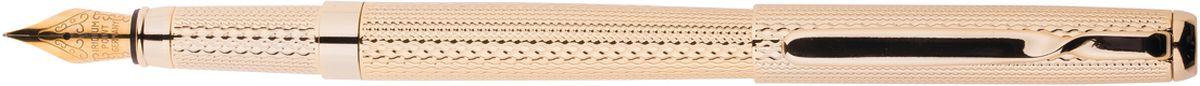 Delucci Ручка перьевая цвет корпуса золотистыйCPs_81914Перьевая ручка Delucci создана для настоящих ценителей классики. Цвет корпуса золотистый, с рифлением. Оригинальный клип. Изящная гравировка. Диаметр пишущего узла - 0,8 мм.