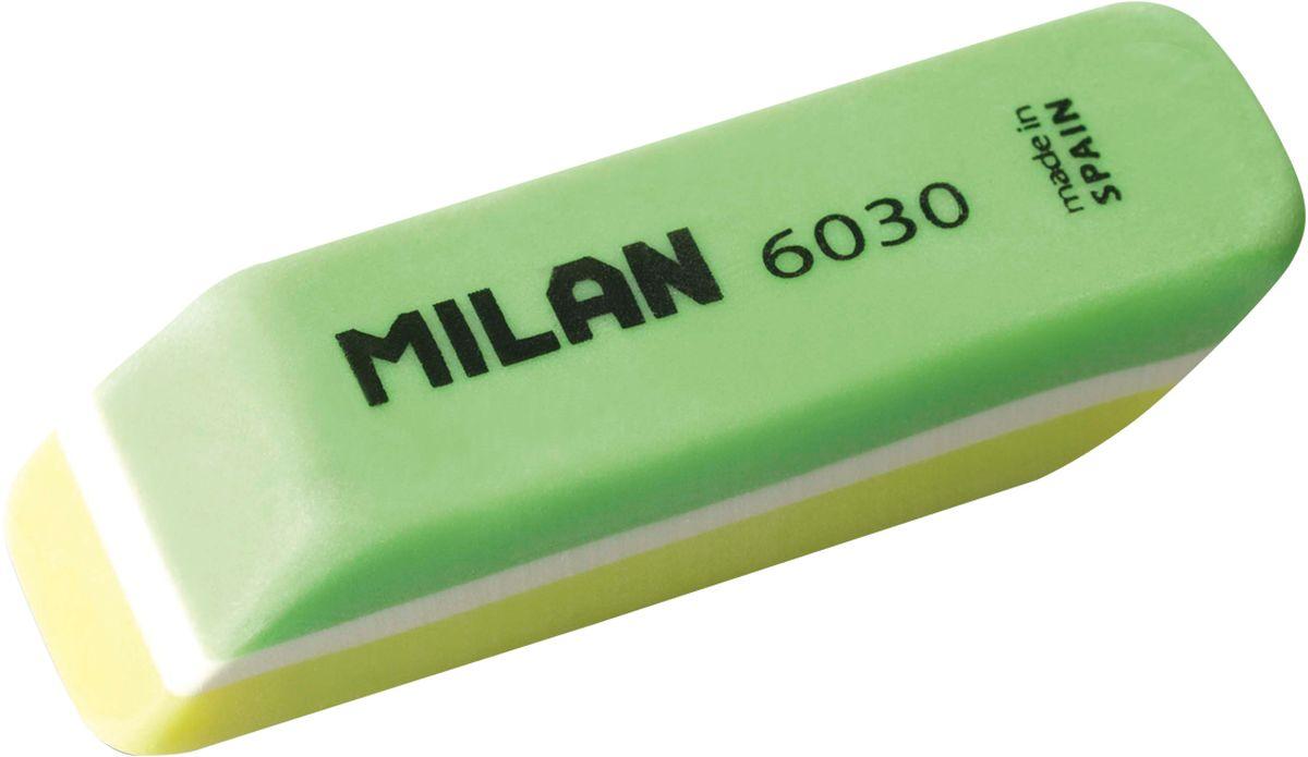 Milan Ластик 6030 скошенный цвет зеленый желтый