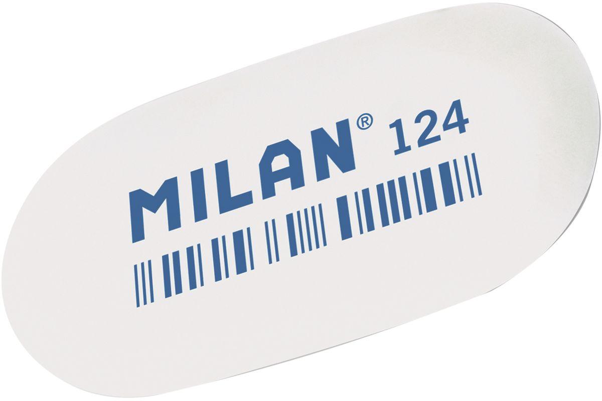Milan Ластик 124 цвет белыйCMM124Ластик Milan овальной формы для точного стирания. Полумягкая текстура.