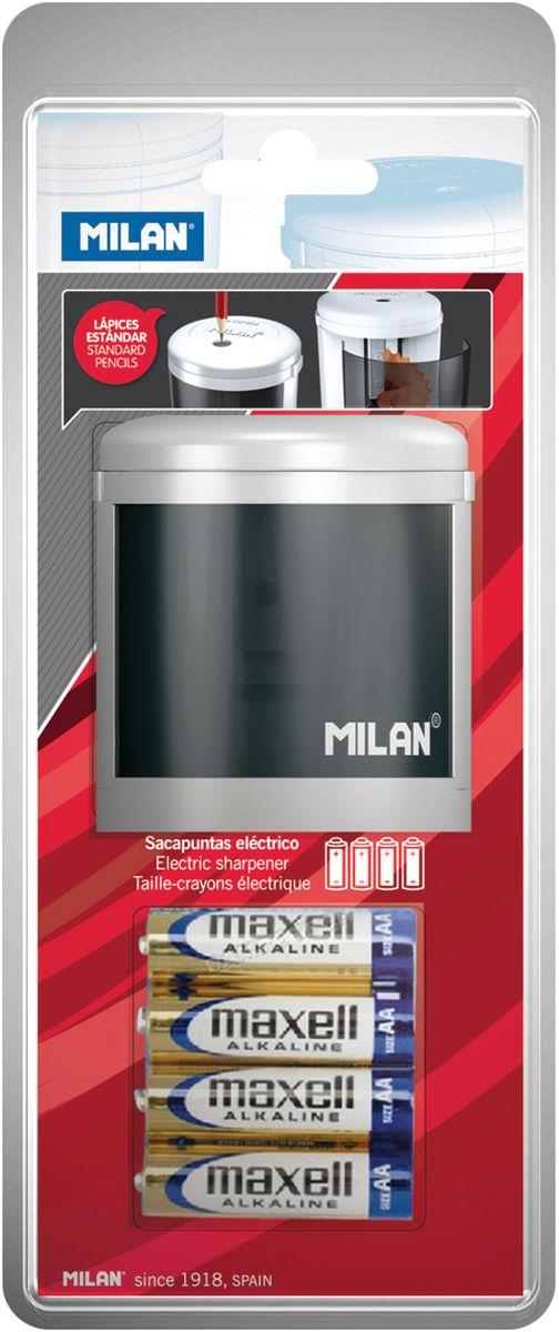 Milan Точилка электрическая Power SharpBWM10149Электрическая точилка Milan Power Sharp отличается лаконичным стилем и сделана по новейшим технологиям с учетом последних тенденций в области дизайна в экспериментальной лаборатории MILAN. Конструкция лезвия точилки абсолютно безопасна, в создании точилок использованы только качественные материалы. Модель Powersharp идеальна для школы и офиса. Модель работает на батарейке 1,5 V. Страна-производитель: Испания.
