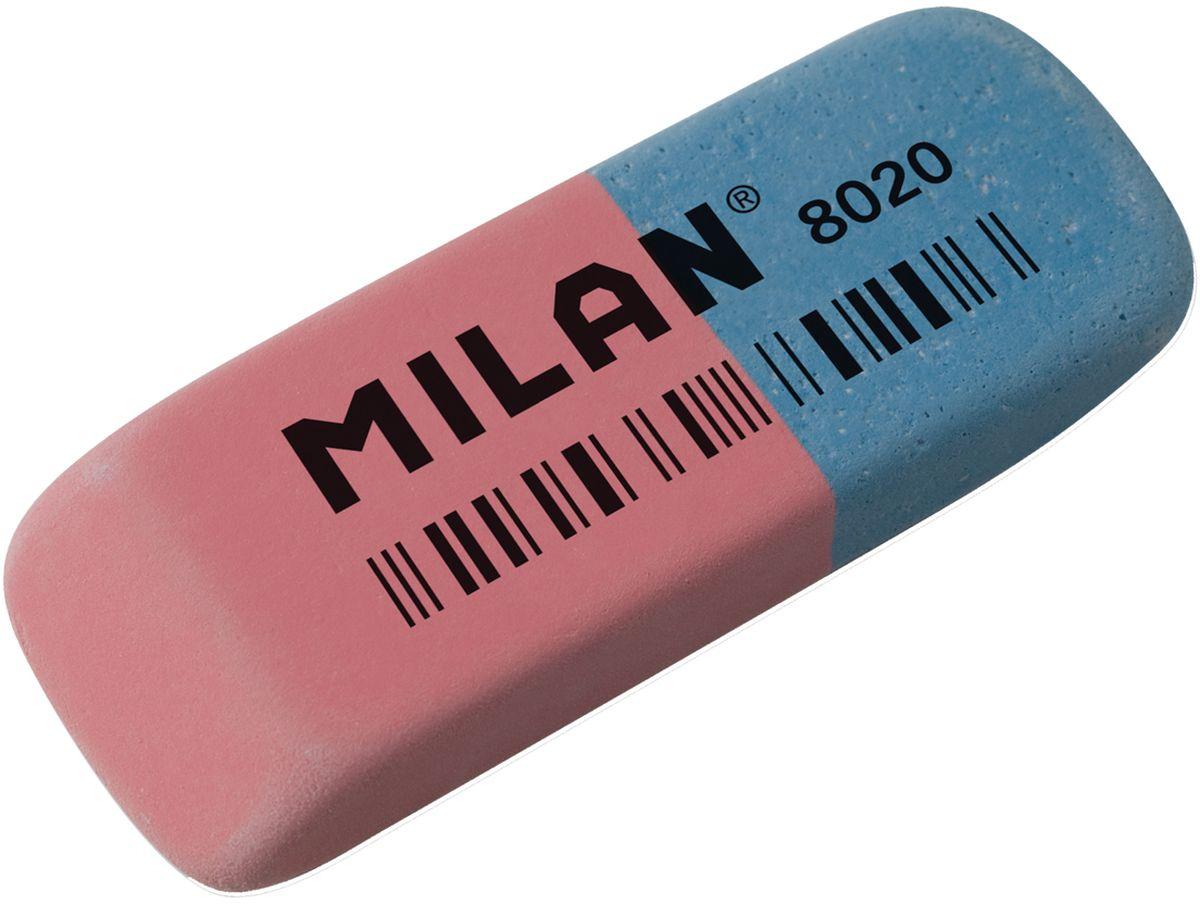 Milan Ластик 8020 скошенныйCCM8020Ластик Milan 8020 - это классический натуральный ластик с добавлением двух видов абразивов. Позволяет удалять с бумаги чернила и стирать цветные карандаши.