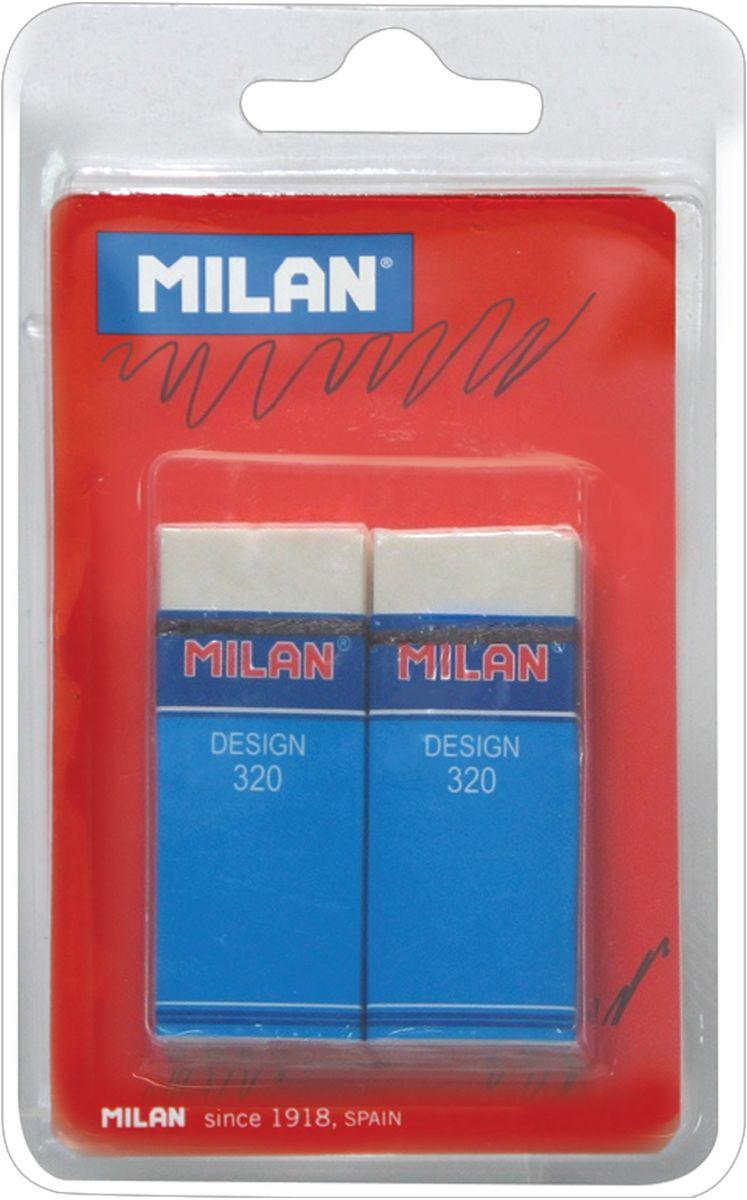 Milan Набор ластиков Design 320, 2штBPM10042Набор ластиков Milan Design 320 включает в себя 2 мягких ластика с великолепными абсорбирующими свойствами для профессионалов. Удобная защитная пленка и бумажный держатель. Для карандашей с твердостью 3H, 2H, H, F, HB, B и 2B.