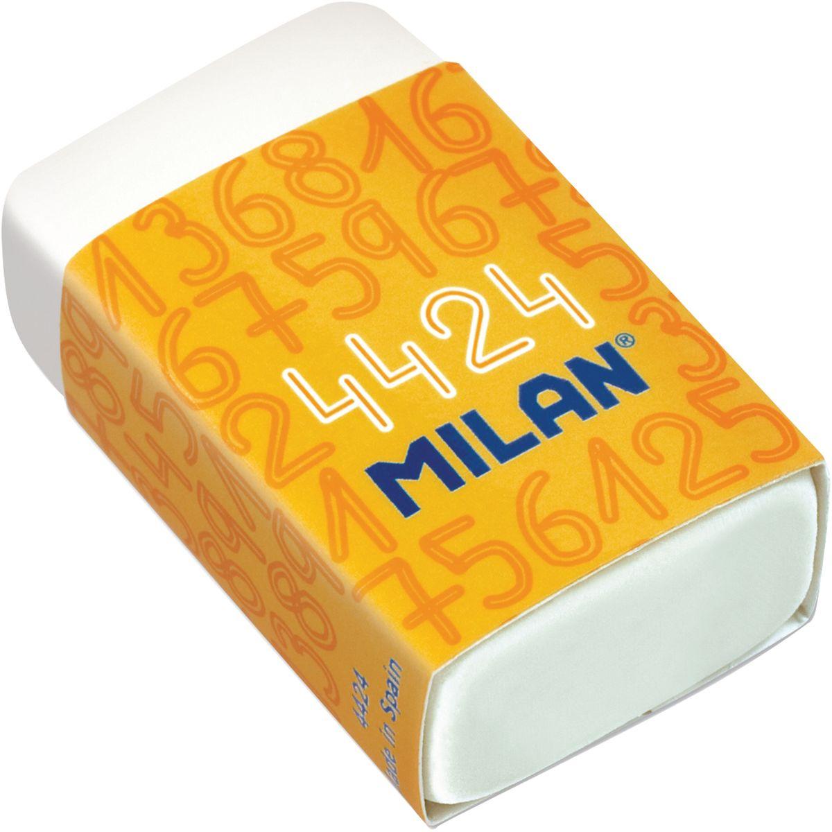 Milan Ластик 4424CMM4424Мягкий синтетический каучуковый ластик Milan подходит для удаления штрихов от большинства графитовых карандашей на всех видах поверхностей.