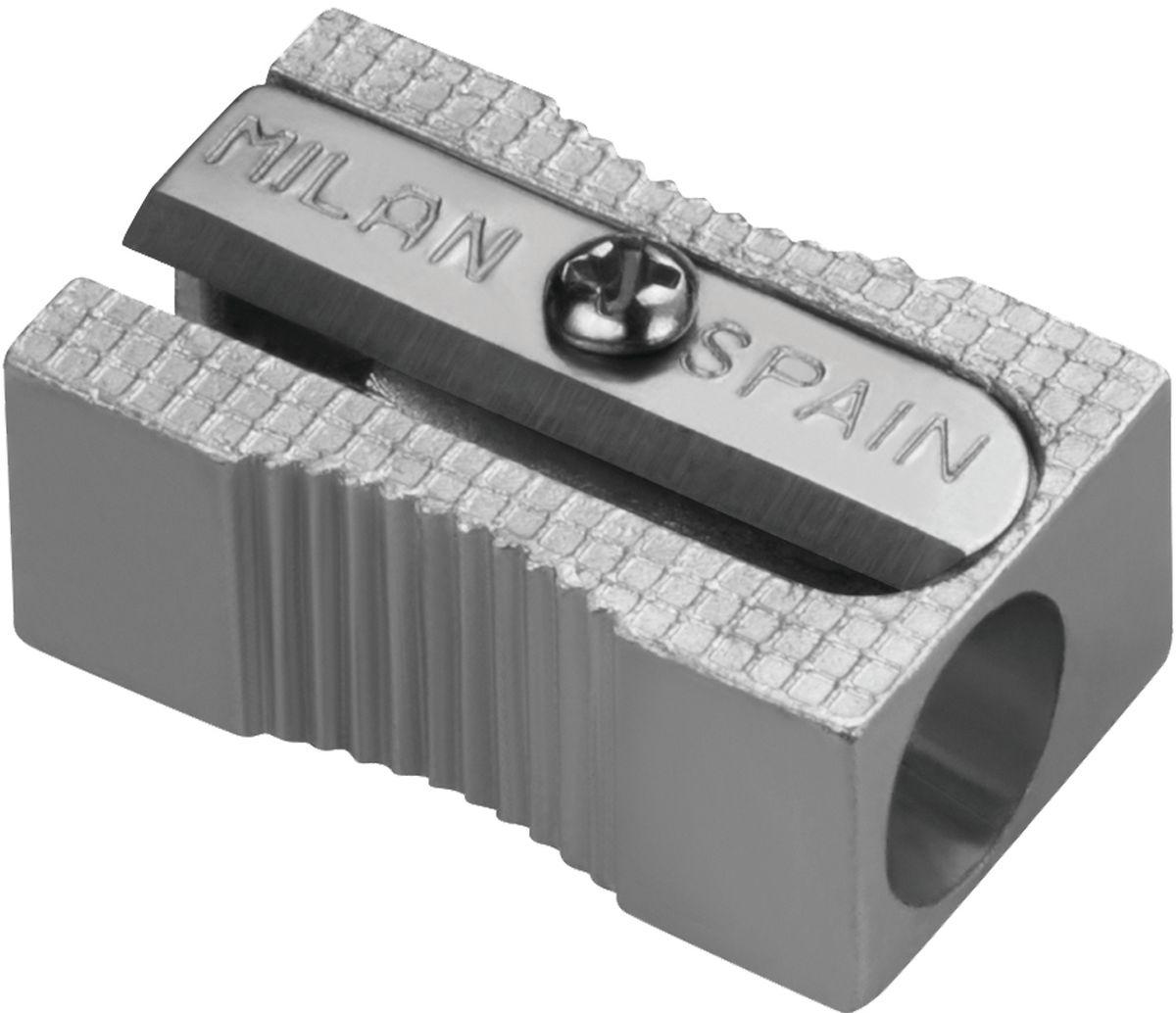 Milan Точилка 8003480034Алюминиевая точилка MILAN. Лезвие из углеродистой стали, острое и устойчивое к повреждению. Идеально подходит для графитовых и цветных карандашей