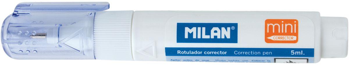 Milan Корректирующий карандаш 5 мл1305212/1305001Корректирующий карандаш Milan. Объем - 5 мл. Система подачи жидкости - поршень. Применяется для точечных и мелких исправлений. Подходит для любого типа бумаги и чернил. Металлический наконечник обеспечивает оптимальную подачу корректирующей жидкости. Длина всего 10,5 см. Идеально для школьников.