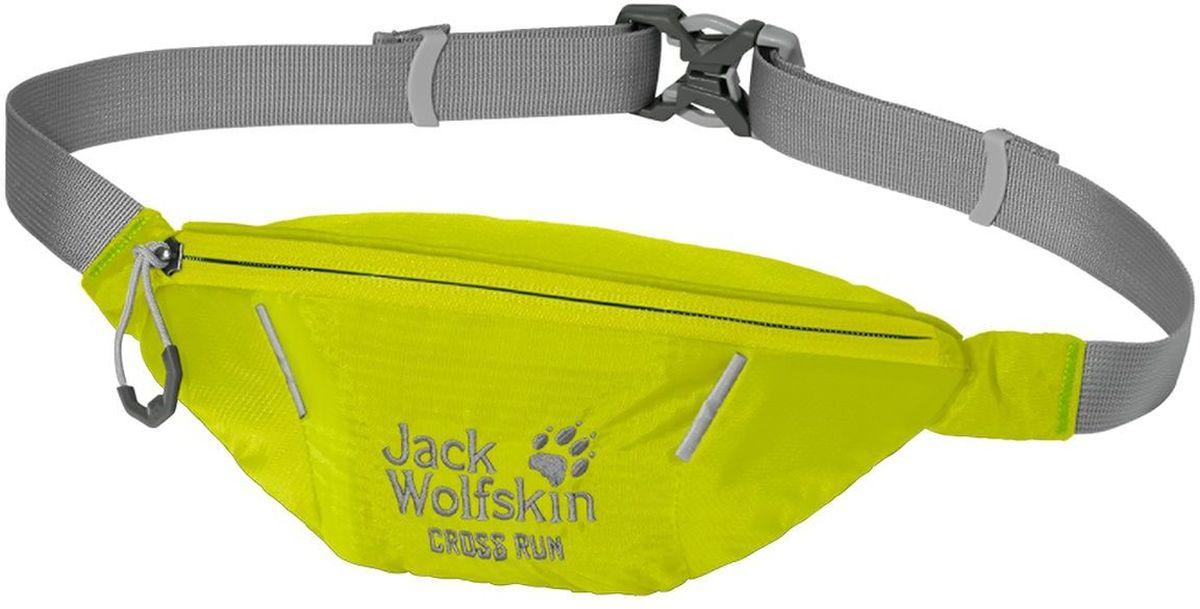 Сумка поясная Jack Wolfskin Cross Run, цвет: лимонный, 10 х 22 х 8 см2002412-4088Маленькая поясная сумка для занятий спортом