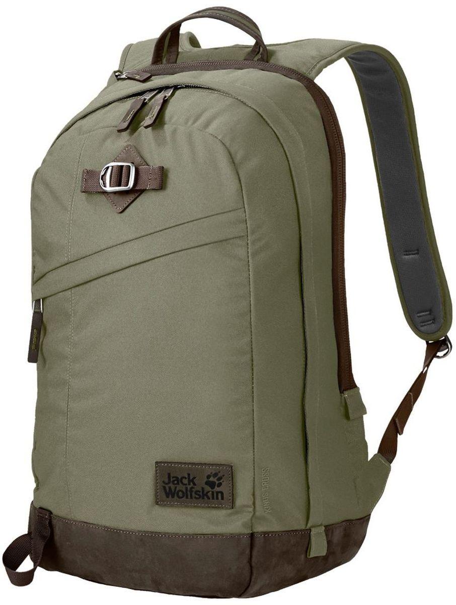 Рюкзак городской Jack Wolfskin Kings Cross, цвет: хаки, 24 л2003282-4288Большой многоцелевой рюкзак для ноутбука из серии Vintage (Винтаж)