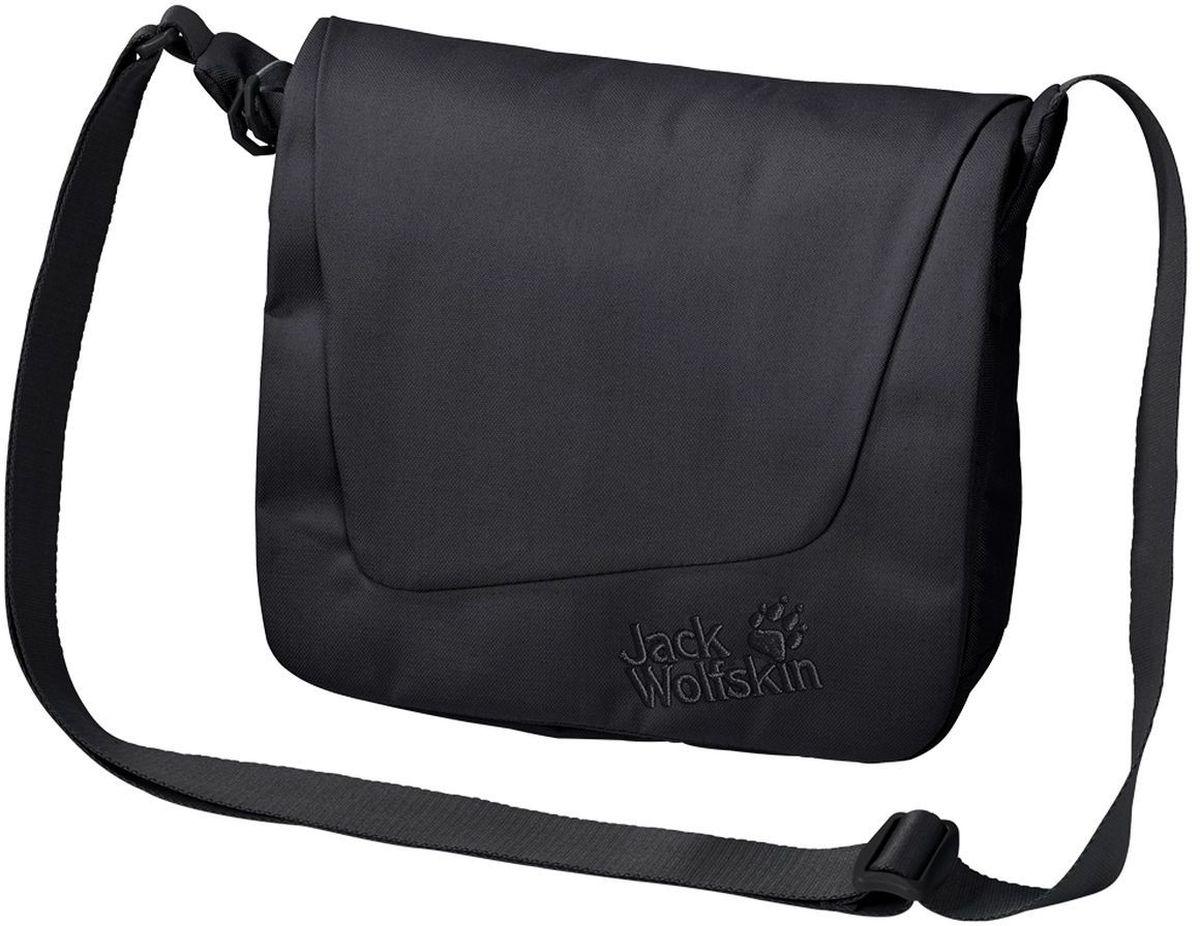 Сумка женская Jack Wolfskin Rosebery, цвет: черный, 3,5 л2003692-6000Небольшая сумка через плечо, предназначенная для повседневной жизни