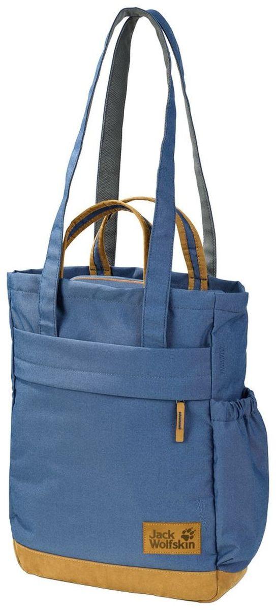 Сумка городская Jack Wolfskin Piccadilly, цвет: синий, 15 л2004003-1588Сумка для покупок из серии Vintage (Винтаж) с регулируемыми лямками
