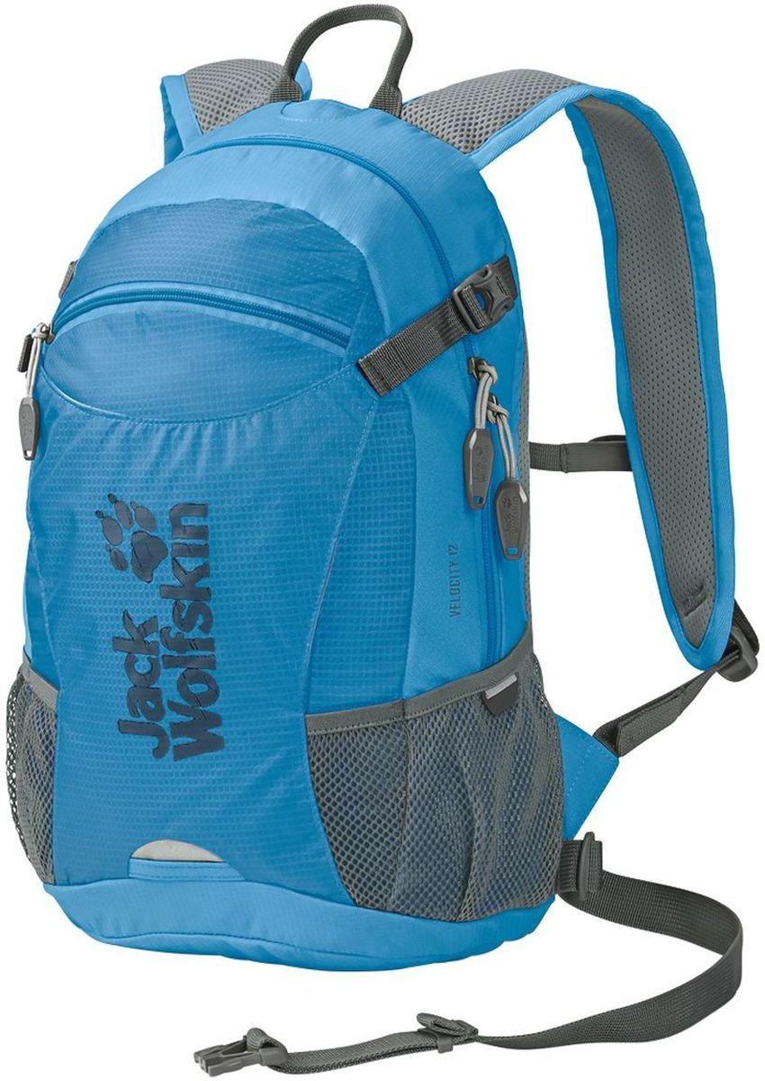 Рюкзак спортивный Jack Wolfskin Velocity 12, цвет: голубой, 12 л2004961-1651Небольшой, прочный универсальный рюкзак для велоспорта и бега