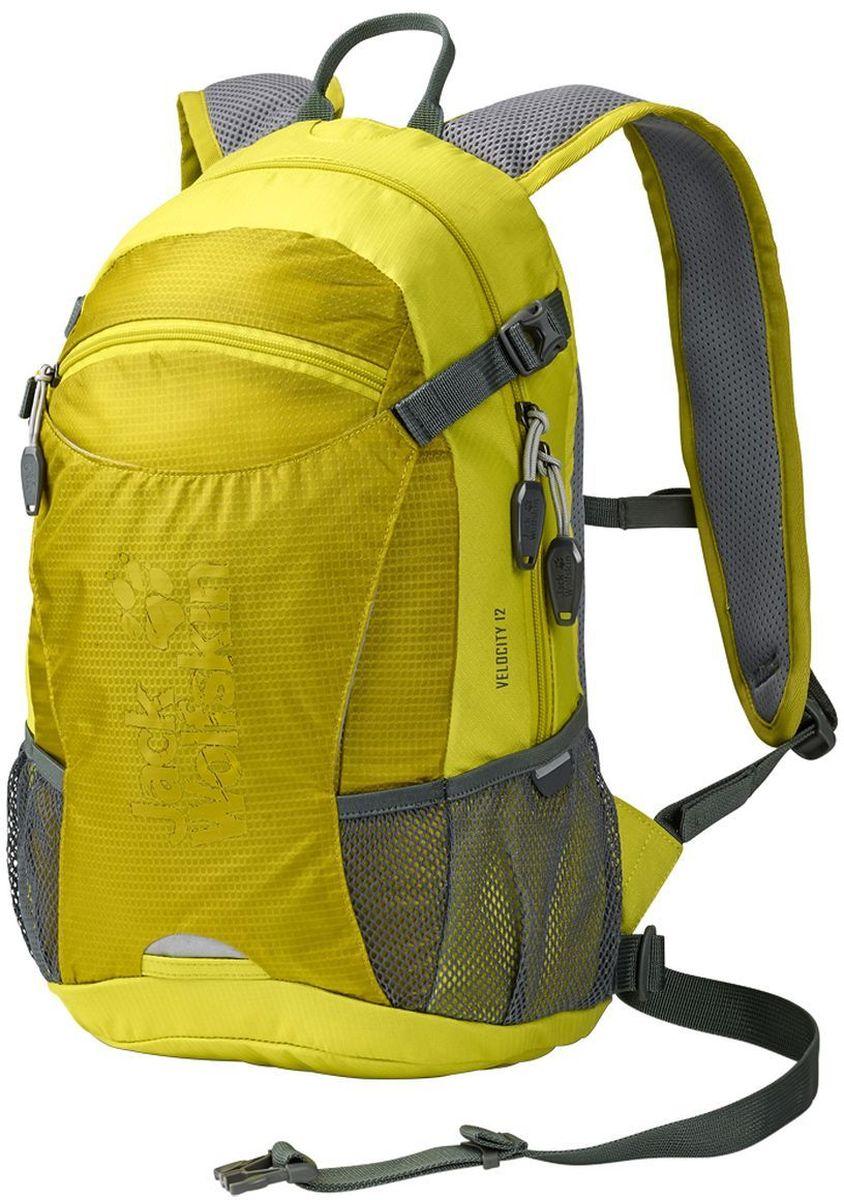 Рюкзак спортивный Jack Wolfskin Velocity 12, цвет: лимонный, 12 л2004961-4240Небольшой, прочный универсальный рюкзак для велоспорта и бега