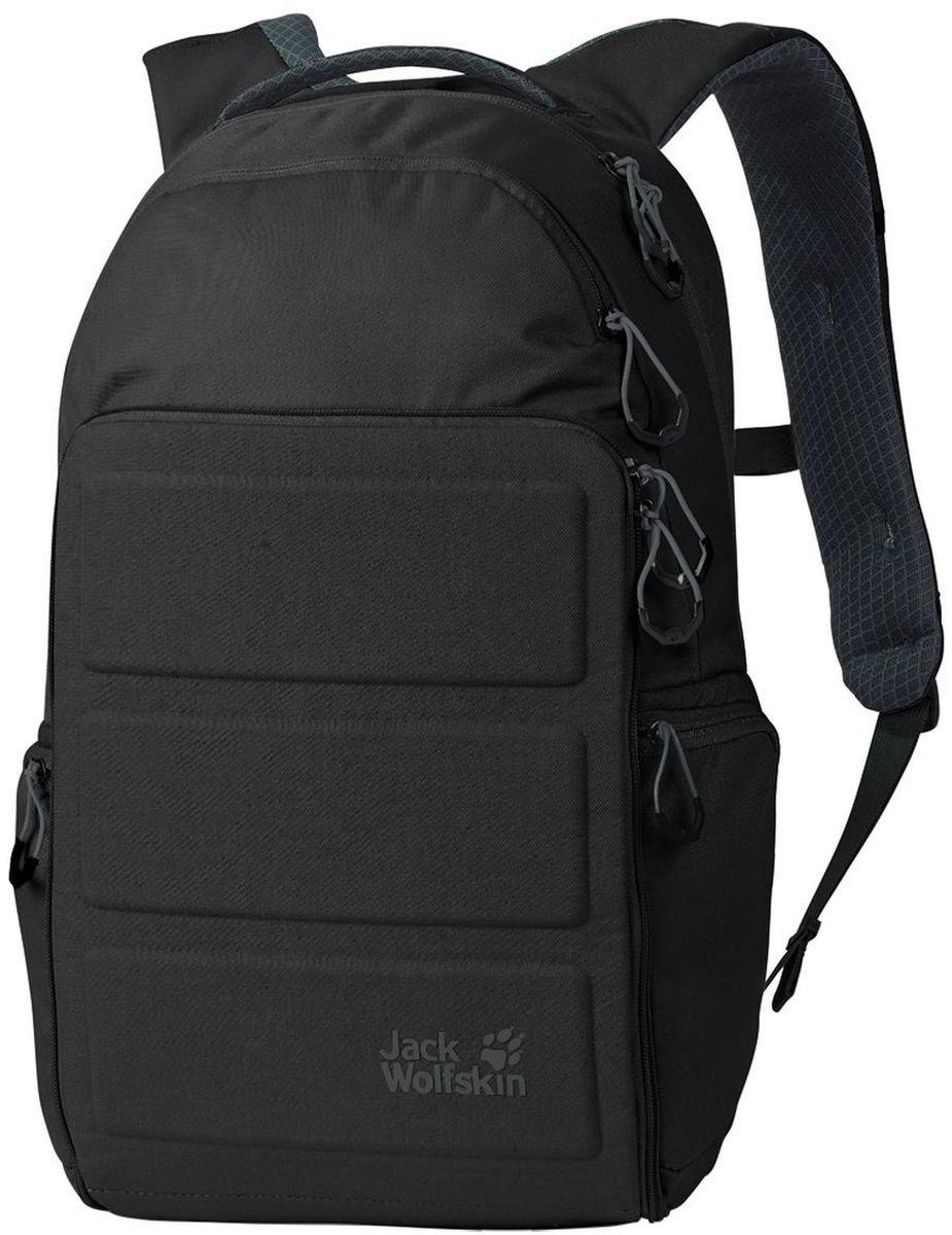 Рюкзак городской Jack Wolfskin Flemington, цвет: черный, 16 л2005031-6000Универсальный рюкзак для ноутбука в городском стиле